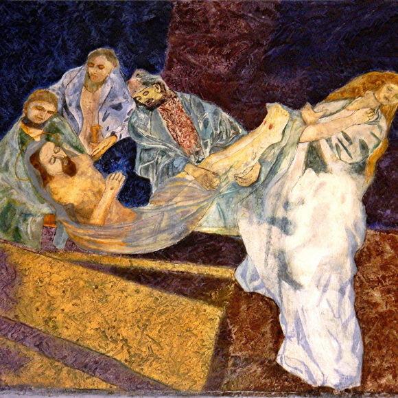 14. Station: Jesus wird in das Grab gelegt